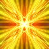 Faisceaux lumineux d'or avec les éléments grunges illustration de vecteur