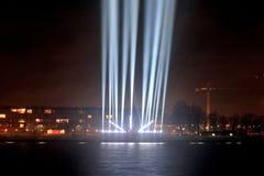 Faisceaux lumineux sur la promenade Photo libre de droits
