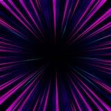 Faisceaux multicolores abstraits artistiques de l'illustration allante de trou de ver du jet A de lumière illustration libre de droits