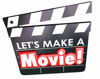 Faisons un message de cinéma de panneau de clapet de film Photos libres de droits