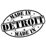 Fait à Detroit illustration stock