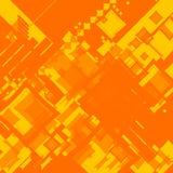 Fait au hasard carré orange de flux de reflux Photos stock