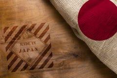 Fait au Japon et au drapeau Japon Images stock