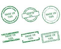 Fait dans des timbres des Etats-Unis Photos libres de droits