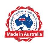 Fait dans l'Australie, qualité de la meilleure qualité, parce que nous nous inquiétons le timbre illustration libre de droits