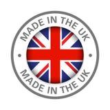 Fait dans l'icône britannique de drapeau illustration libre de droits