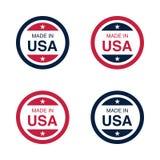 Fait dans l'illustration de signe, de label et d'emblème de vecteur des Etats-Unis Etats-Unis d'Amérique illustration de vecteur