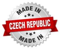 fait dans l'insigne de République Tchèque illustration libre de droits