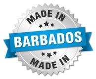 fait dans l'insigne des Barbade Photo stock
