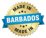 fait dans l'insigne des Barbade illustration de vecteur