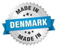 fait dans l'insigne du Danemark Images libres de droits