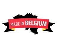 Fait dans la bannière de la Belgique Image stock