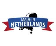 Fait dans la bannière néerlandaise Photographie stock
