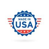 Fait dans la conception d'insigne de concept d'icône des Etats-Unis Illustration de vecteur illustration stock