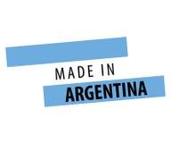 Fait dans la conception de drapeau de l'Argentine Image libre de droits