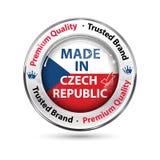 Fait dans la République Tchèque, qualité de la meilleure qualité, marque de confiance illustration libre de droits
