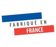 Fait dans le drapeau de Frances Photos libres de droits
