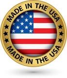 Fait dans le label d'or des Etats-Unis, illustration de vecteur illustration stock
