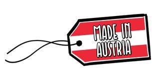 Fait dans le label de l'Autriche Photos libres de droits