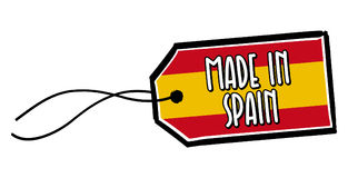 Fait dans le label de l'Espagne Image stock