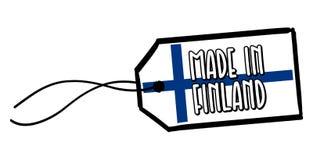 Fait dans le label de la Finlande Photos stock