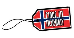 Fait dans le label de la Norvège Photos stock