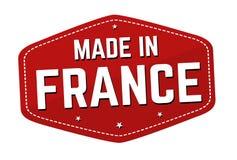 Fait dans le label ou l'autocollant de Frances illustration stock