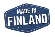 Fait dans le label ou l'autocollant de la Finlande illustration de vecteur