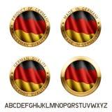 Fait dans le logo de l'Allemagne Photos libres de droits