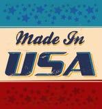 Fait dans le rétro signe des Etats-Unis illustration de vecteur