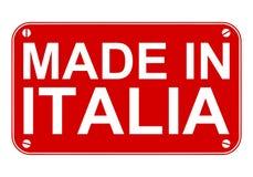 Fait dans le signe de l'Italie Photos libres de droits