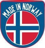 Fait dans le signe de la Norvège Photos libres de droits