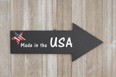 Fait dans le signe des Etats-Unis Image stock