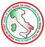 Fait dans le symbole de l'Italie Photographie stock