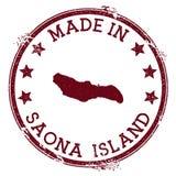 Fait dans le timbre d'île de Saona illustration stock