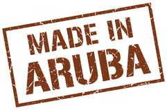 fait dans le timbre d'Aruba illustration libre de droits