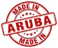 fait dans le timbre d'Aruba illustration stock