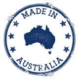 Fait dans le timbre d'Australie illustration de vecteur