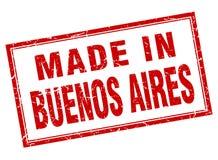 fait dans le timbre de Buenos Aires illustration stock