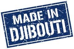 fait dans le timbre de Djibouti Photographie stock libre de droits