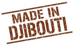 fait dans le timbre de Djibouti Images libres de droits