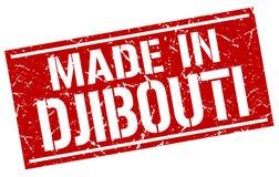 fait dans le timbre de Djibouti Photo stock