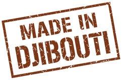 fait dans le timbre de Djibouti Image stock