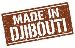 fait dans le timbre de Djibouti Photos stock