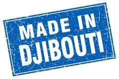 fait dans le timbre de Djibouti illustration de vecteur