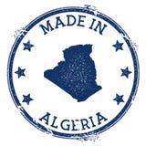 Fait dans le timbre de l'Algérie illustration de vecteur