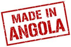 fait dans le timbre de l'Angola Image libre de droits