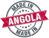 fait dans le timbre de l'Angola Images stock