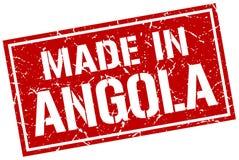 fait dans le timbre de l'Angola Photo stock
