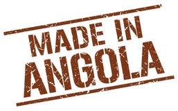 fait dans le timbre de l'Angola Photos stock